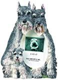 Schnauzer Gift Picture Frame Holds Your Favorite 3x5 Inch Photo, A Hand Painted Realistic Looking Schnauzer Family Surrounding Your Photo. This Beautifully Crafted Frame is A Unique Accent to Any Home or Office. The Schnauzer Picture Frame Is The Perfect Gift For Schnauzer Owners And Lovers!