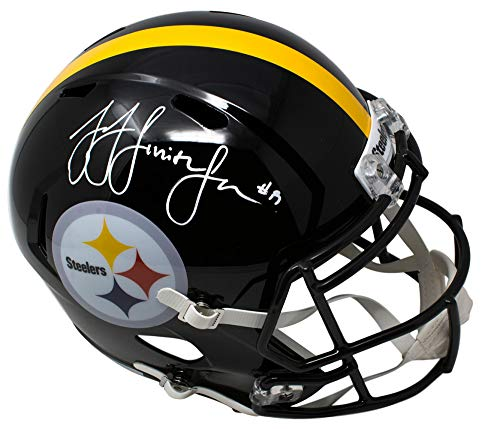 JuJu Smith Schuster Pittsburgh Steelers Signed Autograph Full Size Speed Helmet JSA Witnessed Certified