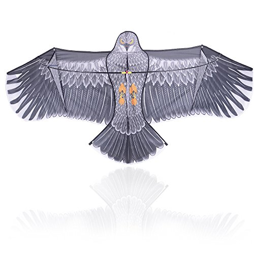 Lightaling Flying Eagle Kite 6 Foot Wingspan Bird-Shaped Flying Kite for Kids and Adults