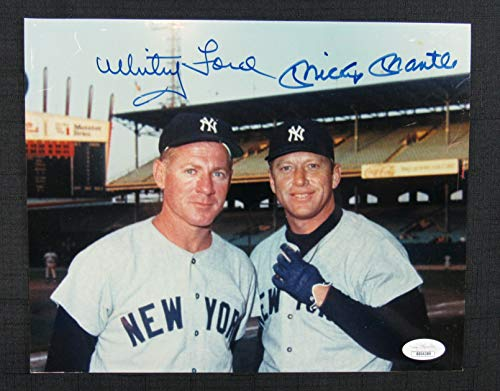 Mickey Mantle Whitey Ford Signed Auto Autograph 8x10 Photo JSA BB04389 ()
