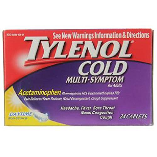 Product Of Tylenol Cold, Multi-Symptom Daytime Non - Drowsy, Count 1 - Medicine Cold/Sinus/Allergy / Grab Varieties & Flavors