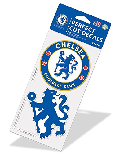 Fan Club Sticker (Int'l Soccer Chelsea (2 Decal Per Pack) Perfect Cut Color Decal, England Football Club FC)