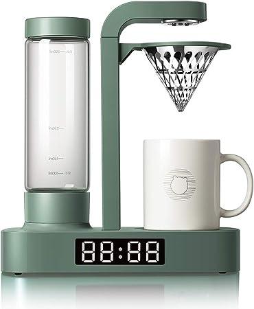 KOUPA Cafetera de 5 Tazas, con Jarra de Vidrio y Reloj electrónico con led, cafetera de Estilo vertido con Modo de preinfusión, para el hogar y la Fiesta: Amazon.es: Hogar
