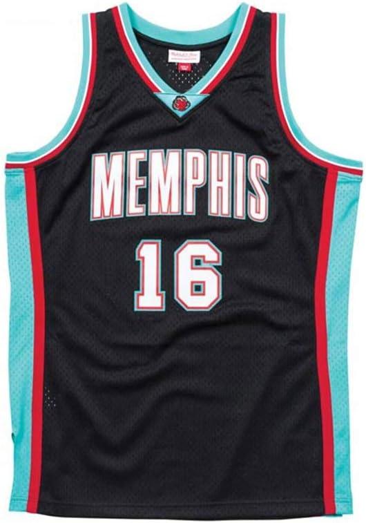 Zyf Camiseta Baloncesto Baloncesto Jersey # 16 PAU Gasol Neutro Camiseta Sin Mangas SW Jersey Retro XS-XXL