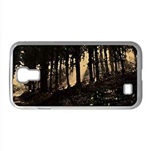 Fir Trees Wood Watercolor style Cover Samsung Galaxy S4 I9500 Case (Forests Watercolor style Cover Samsung Galaxy S4 I9500 Case)
