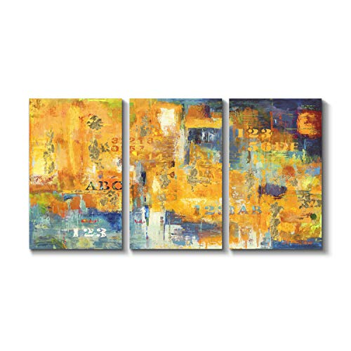 Art Abstract Canvas Giclee Urban - Grander Group Abstract Art Urban Street Picture - City Scene Silver Foil Painting Print on Canvas for Wall