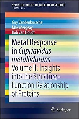 Metal Response in Cupriavidus metallidurans: Volume II ...