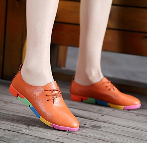 primavera de Orange Sra Sra y blancos deporte zapatos de los casuales otoño zapatillas ascensor La zapatos zapatos aR5wqq
