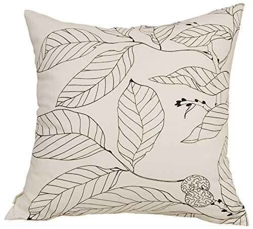 TangDepot Decorative Handmade Floral Leaf Throw Pillow Covers/Pillow Shams, 10 Sizes option - (12