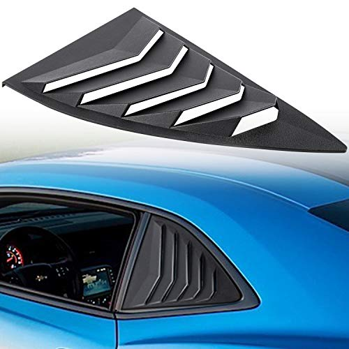 Chevrolet Quarter Window - Camoo GT Styling Quarter Side Window Louvers for 2010-2015 Chevy Chevrolet Camaro