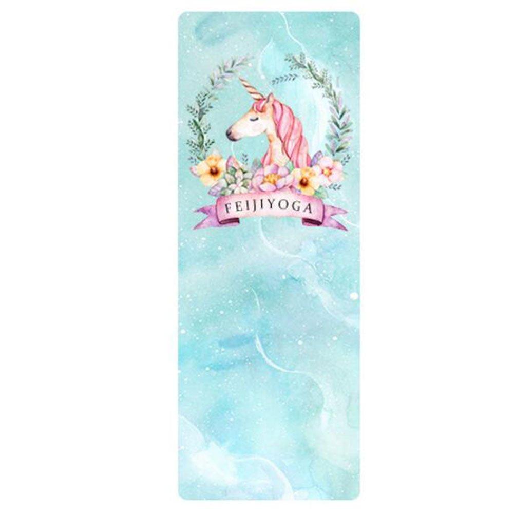 QIDI Yogamatte Gummi Rutschfest Schlafzimmer Dünn Zusammenklappbar Shop Handtuch (Farbe   T-2)