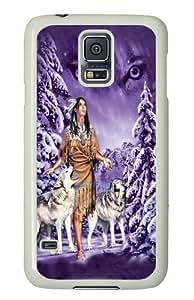 Eyes Native American Custom Samsung Galaxy S5/Samsung S5 Case Cover Polycarbonate White