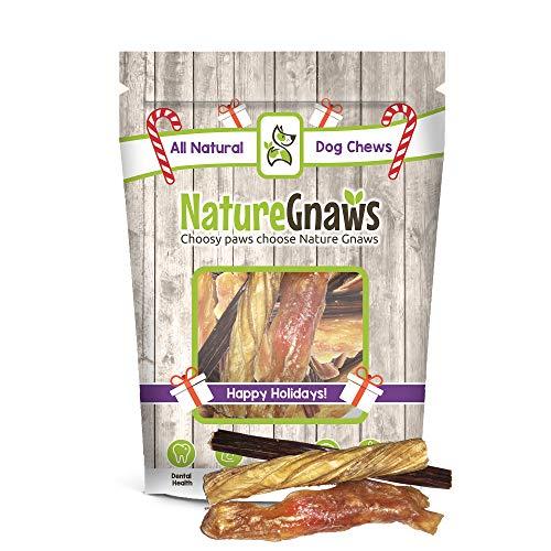 Nature Gnaws Holiday Bag (6 Count) Variety Pack - 100% Natural Dog Chew Treats
