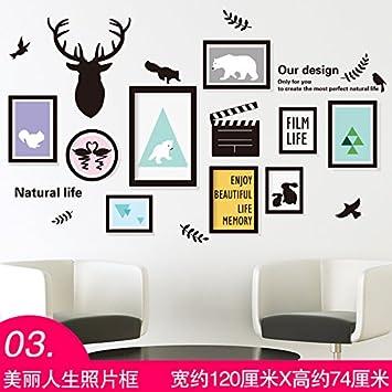 Der Universalzuführung Wandhalterung Trend Avantgarde Home Papier Poster  Tapete Selbstklebende Wohnzimmer Schlafzimmer Dorm Poster 3D Rahmen