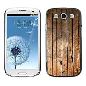 TopCaseStore / la caja del caucho duro de la cubierta de protección de la piel - Ship Deck Floor Vertical Lines Grain - Samsung Galaxy S3 I9300