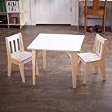 Kids Wooden Folding Table and Chairs Sprout White Wooden Kids Table and Chairs, Folding Activity Table Set, American Made