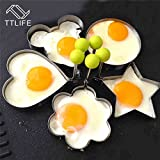 TTLIFE Creative Stainless Steel Pancake Mold Mold Ring Cooking Fried Egg Shaper Kitchen Tools