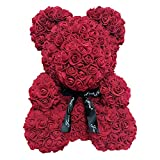 Martinimble 25cm Foam Rose Bear Romantic Flower Bear for Valentine Birthday Wedding Anniversaries