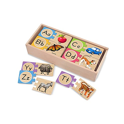MELISSA & DOUG SELF CORRECTING LETTER PUZZLES (Set of 6)