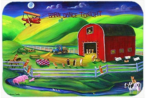 Caroline's Treasures 7404CMT ''Corgi Barn Dance'' Kitchen or Bath Mat, 20'' H x 30'' W, Multicolor