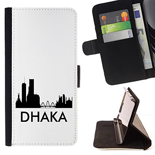 STPlus Dhaka, Bangladesh City Skyline Silhouette Postcard Wallet Card Holder Cover Case for Sony Xperia Z1 Compact