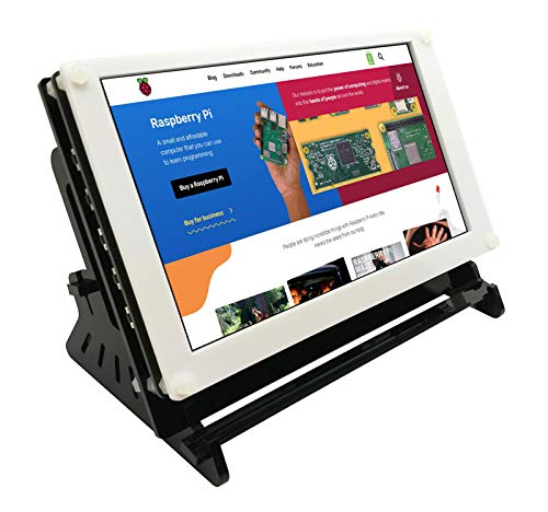 Eleduino Raspberry Pi 7 Inch 1024x600 IPS Capacitive Touchscreen Display LCD Hdmi Input USB Powered With Case by EleDuino