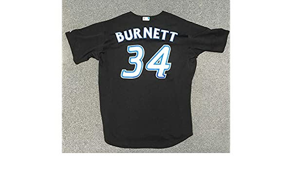 c901b2191 AJ Burnett Toronto Blue Jays Game Used Majestic Baseball Jersey  MLB Holo  at Amazon s Sports Collectibles Store