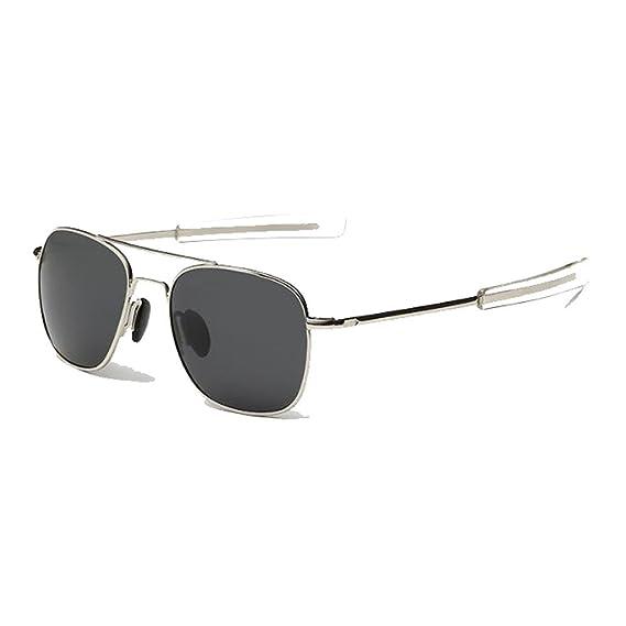 EnzoDate US Air Force Aviator Sunglasses Piloto militar polarizado Bayoneta Temples Wire Spatula Retro clásico para hombre UV400