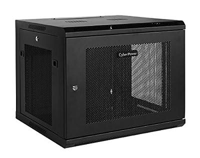 CyberPower 12U Wall Mount Rack Enclosure Cases CR12U51001 black