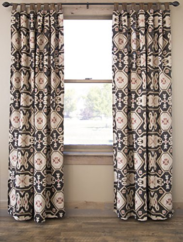 "Southwestern Curtain Panels Set of 2 54"" x 84"" Tab Top Drapes, by North End Decor"