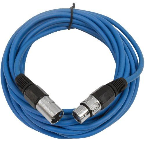 SEISMIC AUDIO - SAXLX-25 - 25' Blue XLR Male to XLR Female M