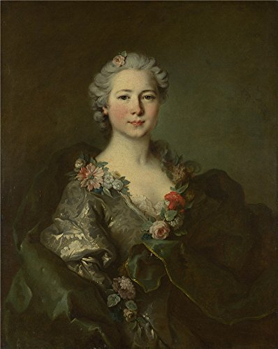 'Louis Tocque Portrait Of Mademoiselle De Coislin ' Oil Painting, 20 X 25 Inch / 51 X 64 Cm ,printed On Perfect Effect Canvas ,this Best Price Art Decorative Prints On Canvas Is Perfectly Suitalbe For Bedroom Decor And Home Decor And