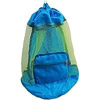 LCsndice Bolsa de playa para niños, plegable, malla de nailon, para niños, mochila de playa, juguetes no incluidos, 24…
