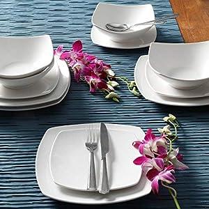 Gibson Home Everyday Square 12-Piece Dinnerware Set