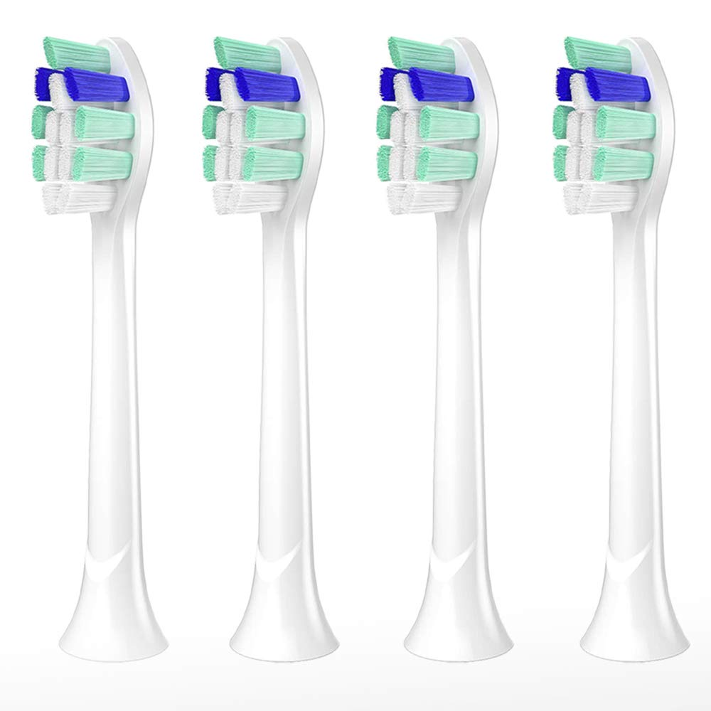 Replacement Toothbrush Heads, 4 Pack Replacement Heads Compatible with All Phillips Sonicare Snap-On Electric Toothbrush