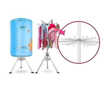 RKY Secadora de ropa Secadora de ropa plegable portátil-Tendedero eléctrico de 1000 vatios Capacidad