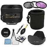 Nikon AF-S NIKKOR 50mm f/1.4G Lens Bundle with Professional HD Filters, Lens Hood, Lens Case, 5 Piece Lens Starter Kit.