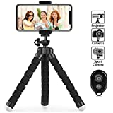 Phone Tripod, PacGo Flexible and Portable Cell Phone Tripod with Remote Shutter and Universial Clip for iPhone, Android Phone, Camera and Sports Gopro
