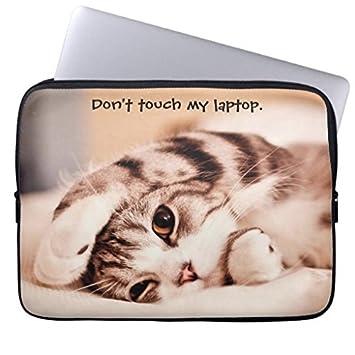 Gato adorable del gatito 13 manga del ordenador fundas porttiles Laptop Sleeve 17 Inch,Notebook