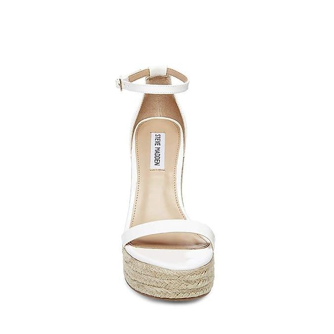cc21f2de3a Amazon.com | Steve Madden Women's Survive Platform Sandal, White Patent, 8  M | Shoes