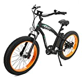 ECOTRIC Fat Tire Electric Bike Beach Snow Bicycle 4.0 inch Fat Tire...