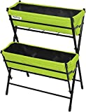 Vegtrug POP2WL302LG USA Poppy 2 Tier Ladder, Lime Green