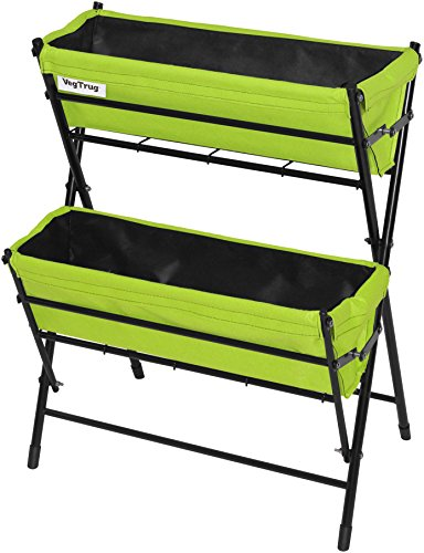 Vegtrug POP2WL302LG USA Poppy 2 Tier Ladder, Lime Green by Veg Trug