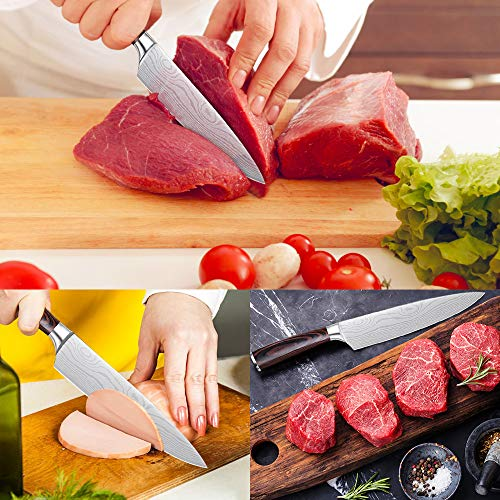 Whew Chef Knife, 8 Inch Japanese High Carbon Stainless Steel Pro Kitchen Knife with Ergonomic Handle, Razor Sharp,Stain and Corrosion Resistant,Best Choice for Home Kitchen and Restaurant by Whew (Image #2)