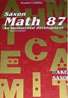 Amazon com: Saxon Math 87: An Incremental Development (Test Forms