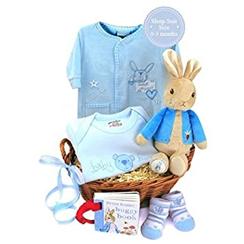 Newborn Baby Gift Hamper - Sweet Baby Boy Gift Basket Available ...