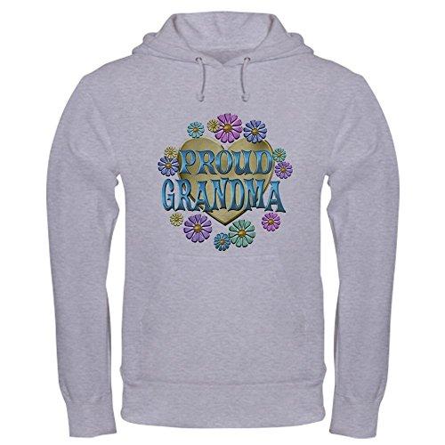 CafePress Proud Grandma Hooded Sweatshirt Pullover Hoodie, Classic & Comfortable Hooded Sweatshirt Heather Grey ()