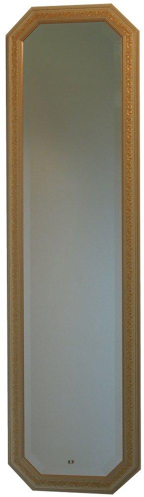 イタリア製 JHAアンティーク風水ミラー エクセレント(アイボリーゴールド)八角形W375×H1375 IE-20 八角ミラー 八角鏡 姿見 姿見鏡 B00JS390YM