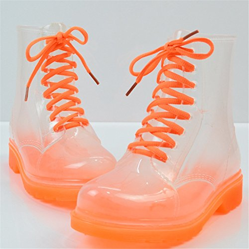 Boots Shoes Summer Martin Spring Rain Shoes PVC Ladies Girls E Transparent Rain Fashion HUAN Water Academy Uqw7zTWS