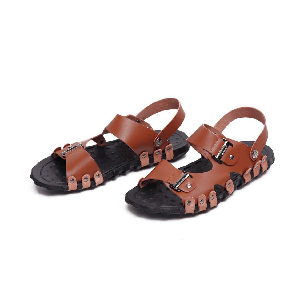 Uomo Tempo libero Doppio uso Trascinamento della sabbia Moda Moda Moda Bottone di metallo Antiscivolo sandali Viaggio Scarpe da spiaggia 562b8a